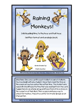 Time:Raining Monkeys: Hour and Half Hour