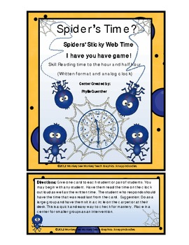 Time:Spider's Sticky Web Time ( Spider/ Halloween)