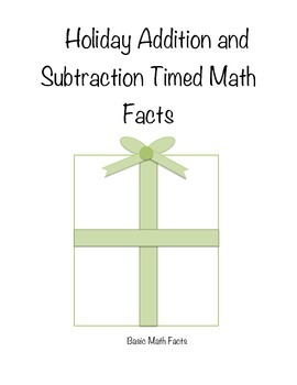 Timed Addition and Subtraction Facts