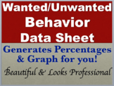IEP Time Data Sheet -SPED / AUTISM Tool- Track Wanted/Unwa