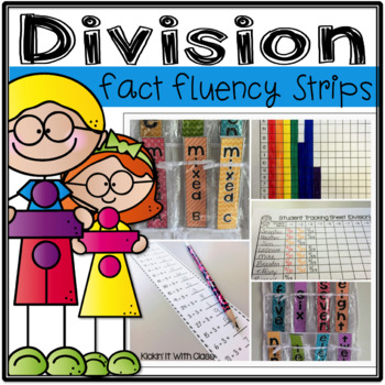 Division Time Test Strips for Math Fact Fluency