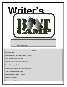 Timed Essay Boot Camp