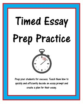 Timed Essay Practice