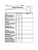Timed Essay Test Rubric