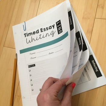 Timed Essay Writing Unit: Use with Any Topic or Prompt!