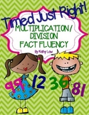 Timed Just Right - Multiplication & Division Fact Fluency