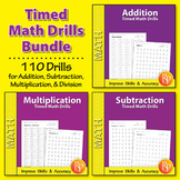 Timed Math Drills {Bundle}