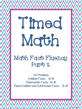 Timed Math (Fact Fluency, Part 2)