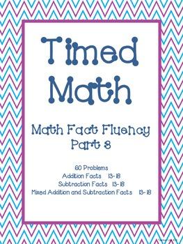 Timed Math (Fact Fluency, Part 3)