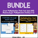 Timed Math Fact Fluency Tests and Flashcards for Multiplication Bundle