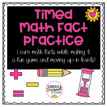 Timed Math Facts:  Build Fact Fluency