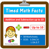 Addition and Subtraction Fact Fluency within 10