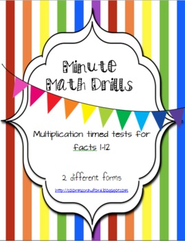 Timed Math Facts/Drills- Multiplication facts 1-12