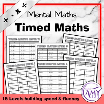 Timed Maths- Fluency Practice for All Operations
