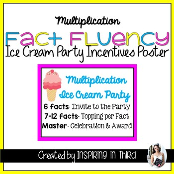 Timed Multiplication Facts Incentives Poster