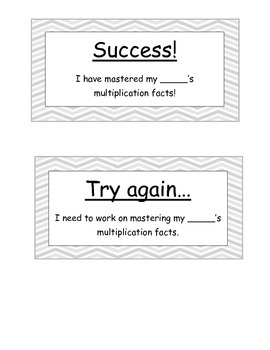 Timed Multiplication Tests / Quizzes for Fluency