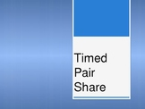 Timed Pair Share Activity