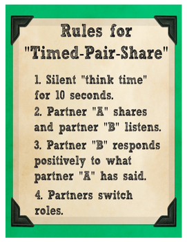 Timed Pair Share Rules Chart