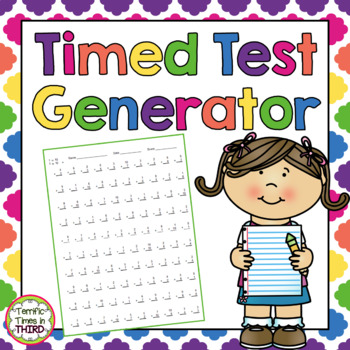 Timed Test Generator: For Addition, Subtraction, and Multiplication