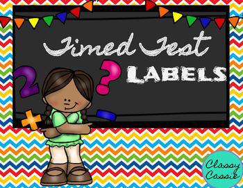 Timed Test Labels
