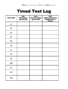 Timed Test Log