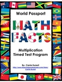 Multiplication and Division Timed Test World Passport Bundle (Common Core)