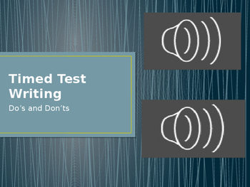 Timed Test Writing Dos and Don'ts