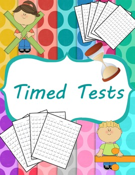 Timed Test for Multiplication, Division (0-12) and Mixed
