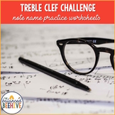 Treble Clef Challenge - Note Name Worksheets