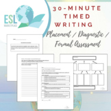 Timed Writing Placement / Diagnostic / Formal Assessment (Fillable PDF)