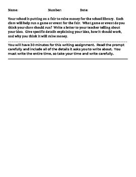 Timed Writing Prompts