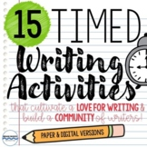Timed Writing Prompts for Creative Writing & Writing Skill