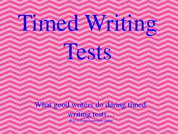 Timed Writing Test Strategies