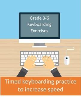 Timed keyboarding practice for grade 3-6