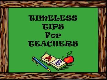 Timeless Tips for Teachers