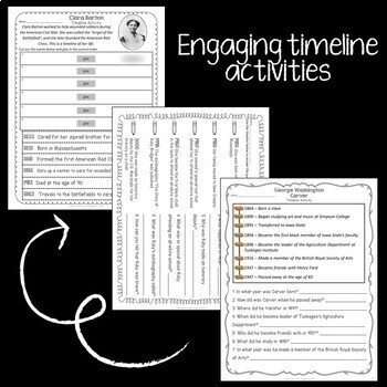 Timelines: No-Prep Activities and Biographies
