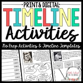 Timelines and Timeline Activities for Biography Units
