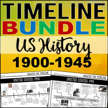 Timeline Analysis: US History 1900-1945 BUNDLE