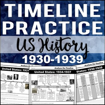 Timeline Analysis: US History 1930-1939 (Great Depression, New Deal)