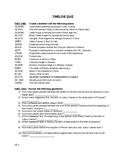 Timeline Assessment