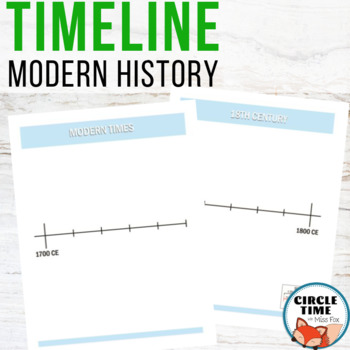 Timeline, Book of Centuries - Modern Times 12 Pages, Color