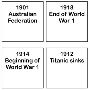 Timeline Cards: 20th Century