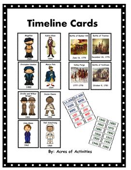 Timeline Cards Ohio Standards