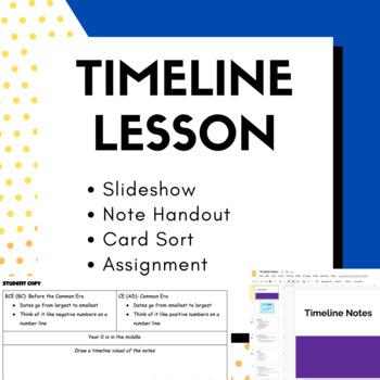 Timeline Lesson: Formative and Summative Assessment Options!