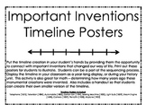 Timeline Posters - Important Inventions~students illustrate!