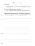 Timeline Practice