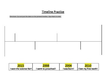 Timeline Practice--Putting dates in order