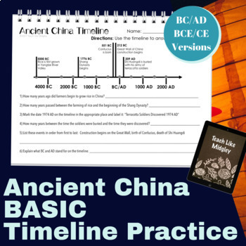 Timeline Practice with Ancient China
