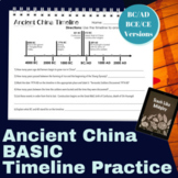 Ancient China BASIC Timeline Practice