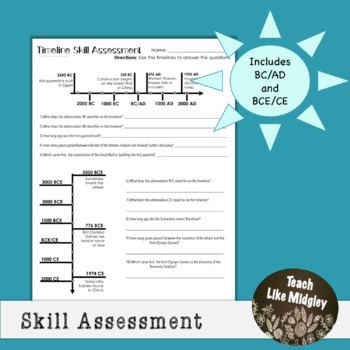 Ancient Civilizations: Timeline Skill Assessment